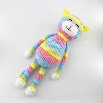 Классический котик Аминеко в радужно-пастельной расцветке
