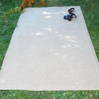 Эко ковер из джута (120х200см) прямоугольный
