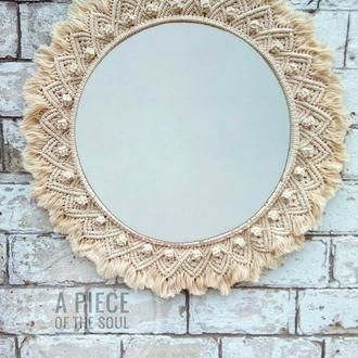 Зеркало в Макраме раме