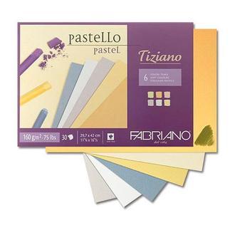 Склейка для пастели Fabriano Tiziano A4 30л, теплые тона 46021297
