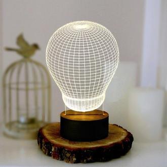 3D LED ночник Лампочка. Ночник в детскую. 3д светильник