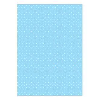 Бумага дизайнерская А4 (200 гр/м) Мелкий горошек на голубом