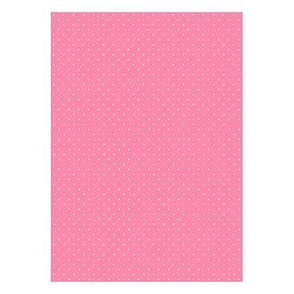 Бумага дизайнерская А4 (200 гр/м) Мелкий горошек на розовом