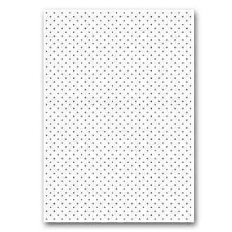 Бумага дизайнерская А4 (200 гр/м) Мелкий черный горошек