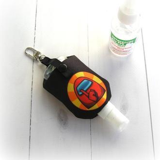 Чохол/тримач/органайзер для антисептика, брелок для рюкзака