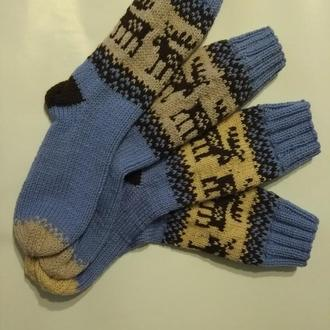 В'язані новорічні шкарпетки