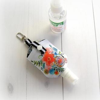 Чохол/тримач/органайзер для антисептика, брелок для сумки