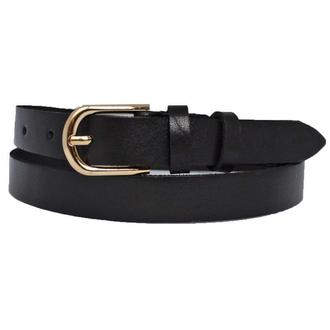 Ремень женский кожаный черный узкий Classica20b9