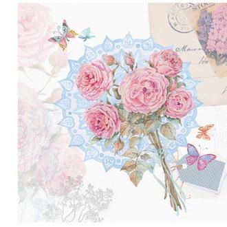 Салфетка Розы романтичные (яркая) 2-7483