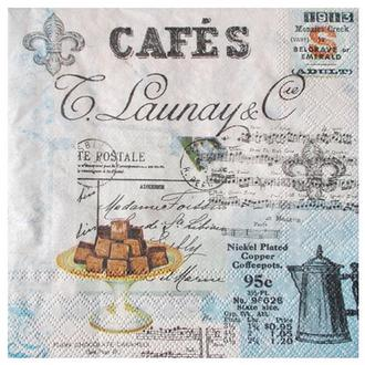 Салфетка Ретро кафе коллаж 2-7488