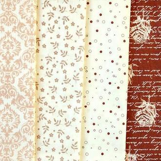 Набор тканей для пэчворка Бежево-коричневый Art-02