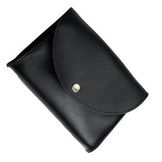 Сумка на пояс клатч женская модная с двумя ремнями из экокожи черная