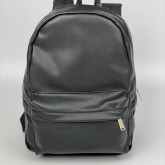 Рюкзак женский большой городской повседневный из экокожи черный