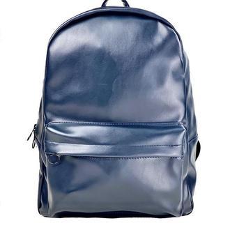 Рюкзак женский большой спортивный повседневный из экокожи синий