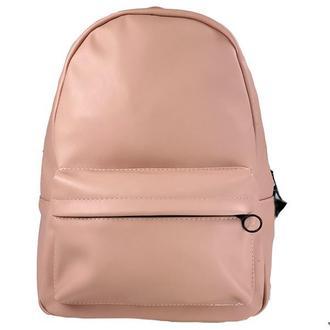 Рюкзак женский городской спортивный из экокожи розовый