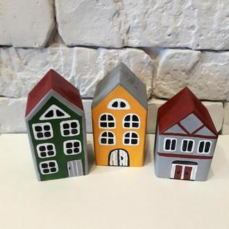 Деревянные домики для детской комнаты, кукольного театра