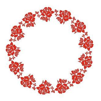 Трафарет 30х30 см Орнамент Розы круговой