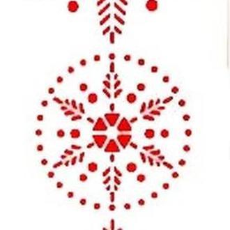 Трафарет декоративный 11*33 см Снежинка