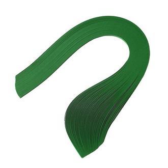Бумага для квиллинга (полоски) 3 мм, 160 г/м2, 100 шт. зеленый темный