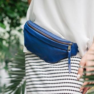Поясная кожаная сумка для путешествий женская