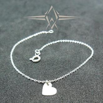 Срібний браслет з підвіскою