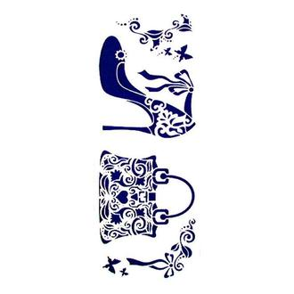 Трафарет декоративный 11х33 см Сумочка и туфелька