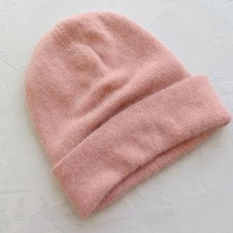 Зимова шапка тепла жіноча з ангори кролик, подаруной сестрі подрузі на Новий рік