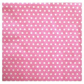 Салфетка Горошек розовая 2-7244