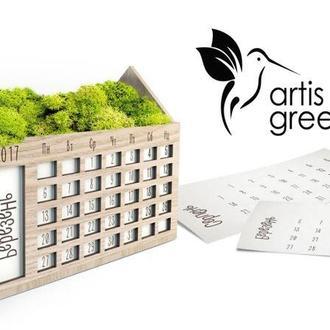 Календар на рік з мохом. Новорічний корпоративний подарунок та сувенір