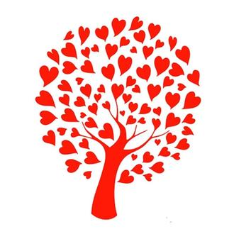 Трафарет 14х20 см Древо любви