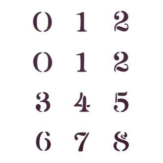 Трафарет декоративный 14х20 см Цифры