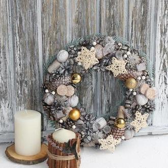 Рождественский подсвечник, венок на дверь