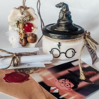 """""""ПРИВЕТ ИЗ ХОГВАРТСА""""  свеча Гарри Поттер и письмо из Хогвартса"""