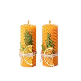 Декоративні натуральні ЕКО свічки з вощини для оригінальних подарунків та декорування дому та свят