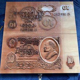 Нарды «10 рублей СССР» резьба по дереву