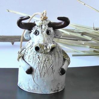 Колокольчик бык подарок для дома