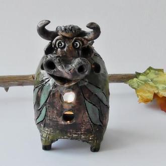 Аромалампа в виде быка подарок для семьи