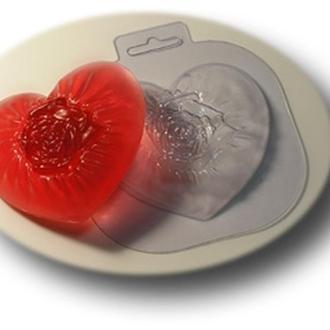 Форма для мыла пластиковая Шелковое сердце