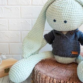 Игрушка Плюшевый заяц мятный