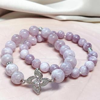 Браслет из натуральных камней, набор браслетов, сет браслетов, браслет из кварца, подарок