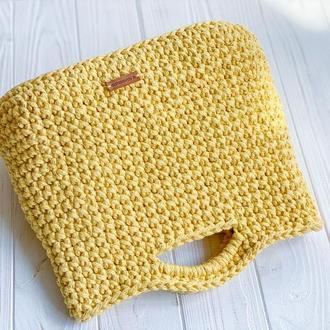 Вязаная сумка Тоут Желтая
