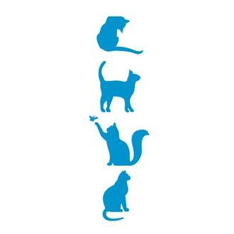 Трафарет многоразовый 10х24 см Кошки
