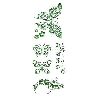 Трафарет многоразовый 10х24 см Бабочки
