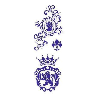 Трафарет многоразовый 10х24 см Камея и герб