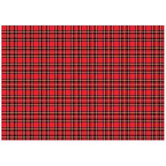 Бумага для декупажа 21х30 см Фон клетка шотландская