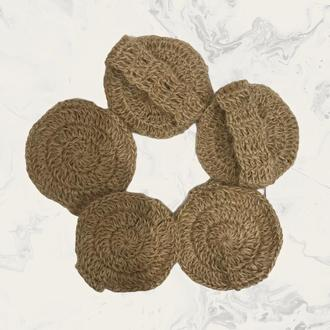 Мочалка для лица, набор 2 шт, натуральная мочалка для умывания, пилинг, скраб