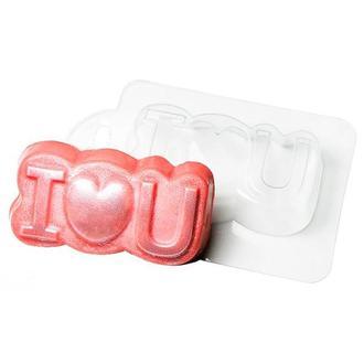 Форма для мыла пластиковая Love you