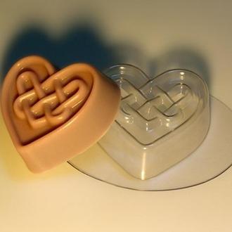 Форма для мыла пластиковая Лабиринты любви (сердечко)