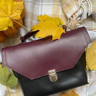 Женская вместительная и компактная сумка из глянцевой кожи, сумка для девушки из натуральной кожи