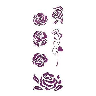 Трафарет многоразовый 10х24 см Розы